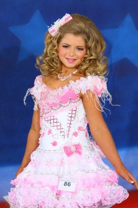 Kro Glitz Pageant Dress Girls 10 14 Pink and White | eBay