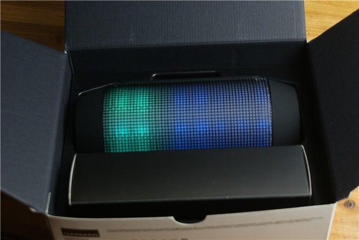 Wireless Bluetooth Speaker JBL PULSE Smart Phone LED Light Show Aux Cord USB NEW #JBL