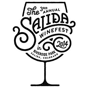 Salida Winefest 2014: Cute typeface paired with minimal contour lines create a clean design.