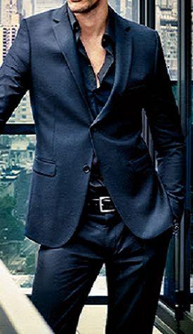 Men's fashion. black on black - men's suit/ clothing