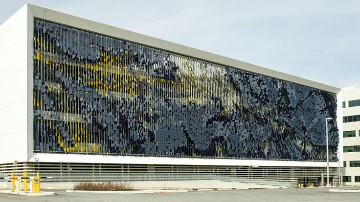 Indianapolis parking lot transformed into giant dynamic artwork