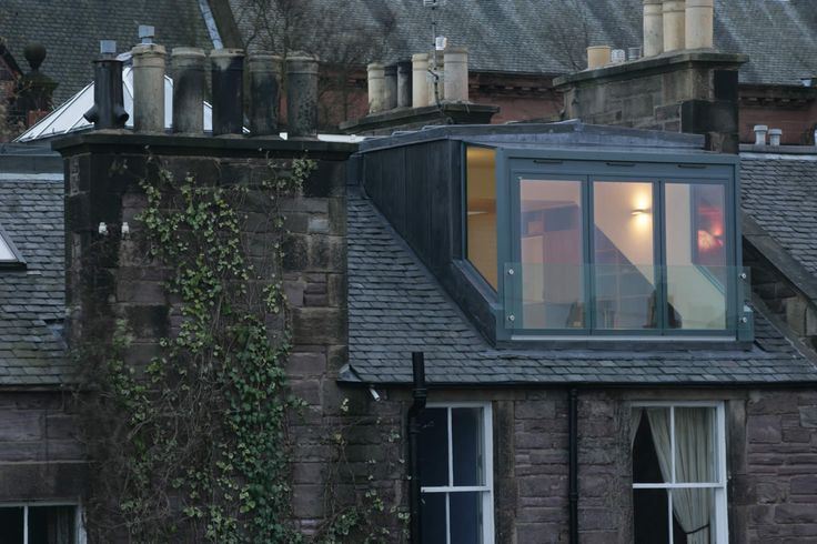 From the rooftops of Edinburgh | Glass dormer Helen Lucas Architects Edinburgh | project | hartington attic conversion edinburgh | living spaces | renovations