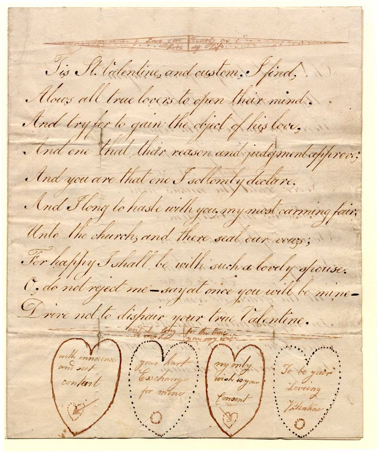 Ink. Manuscript valentine (1st page of 3, addressed and postmarked Shepton Mallet 135 on 4th ). Paper watermarked 1812 (C) Bodleian Library, University of Oxford: Valentines 1