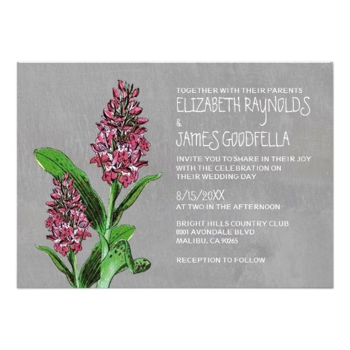 Orchids Wedding Invitations Personalized Announcement