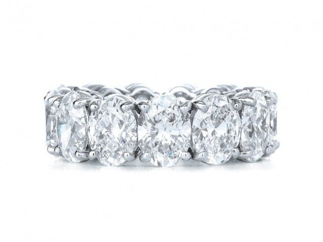 9 best Oval Eternity Band images on Pinterest | Diamond wedding ...