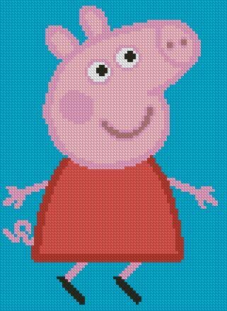Схема вышивки Peppa Pig