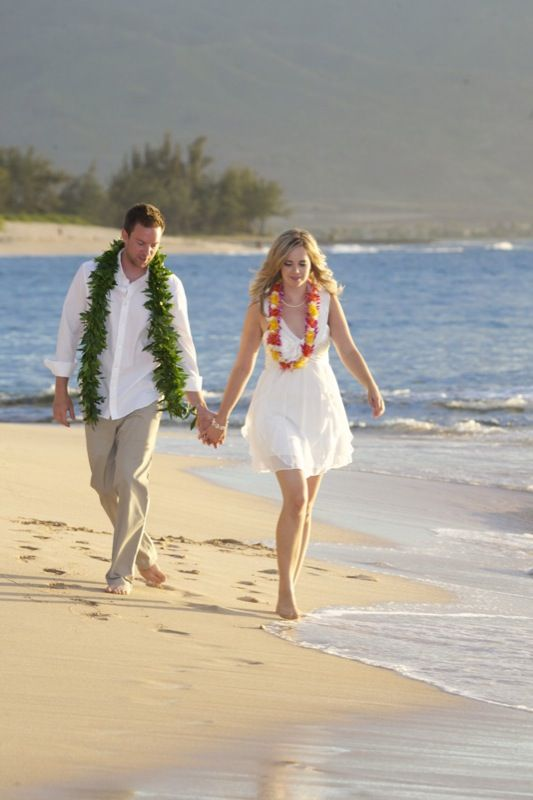 Vow Renewal Package - Hawaiian Barefoot Weddings-- hmmmm...? Always thought this would be very cool...