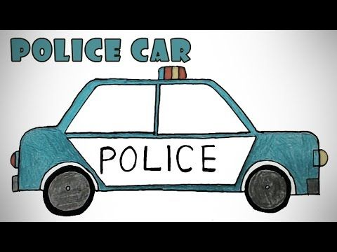 how to draw a police car | Easy step by step drawing for kids