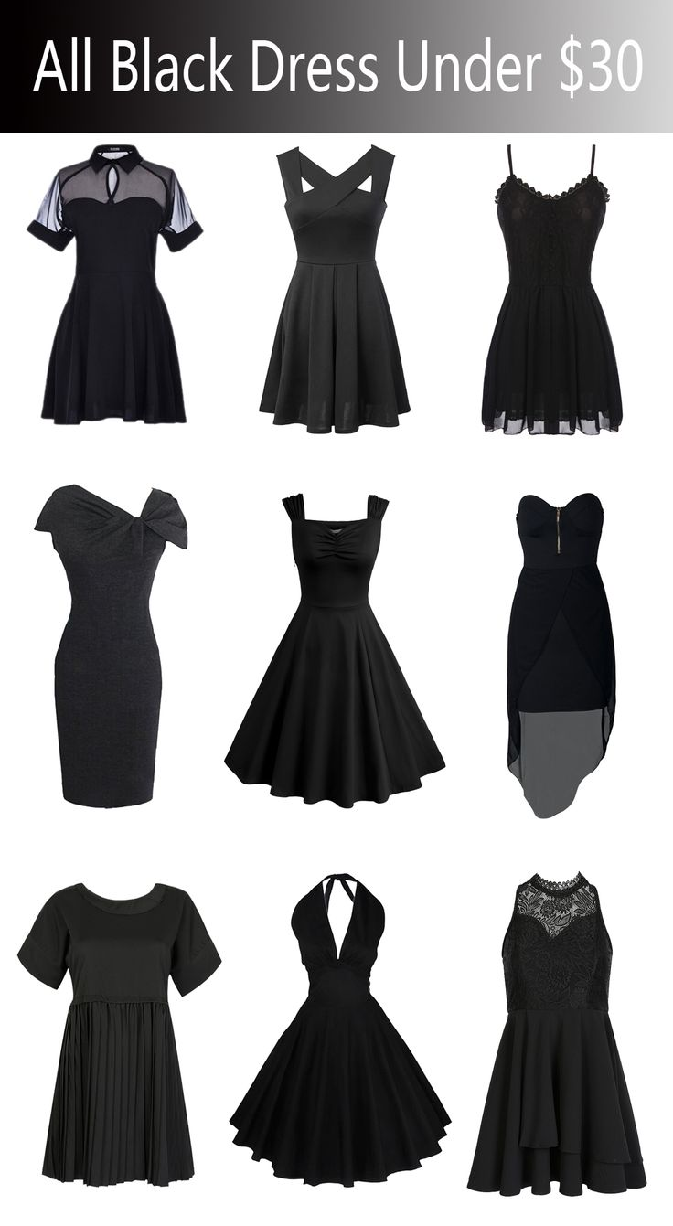 on line jewelry All the black dresses under  30 from  Choies com like them or not never miss them