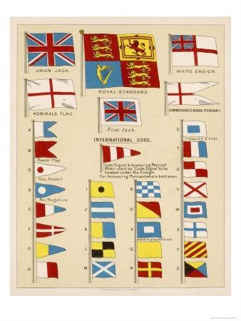 signal flag print