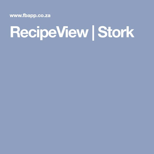 RecipeView   Stork