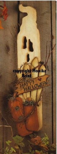 ghostly welcome halloween decoration woodworking patterns primitive decor ghost decoration fall trends home decor