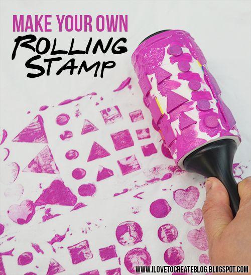 Make a Lint Roller Stamp
