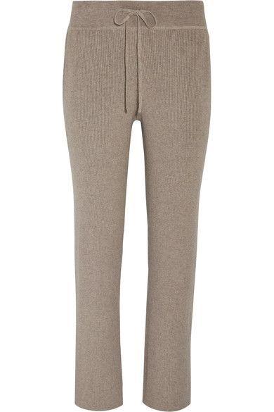HATCH - Ribbed Cotton-blend Wide-leg Track Pants - Brown