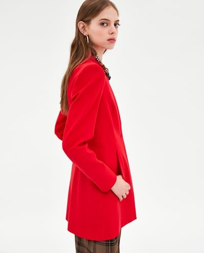INVERTED LAPEL FROCK COAT from Zara $90