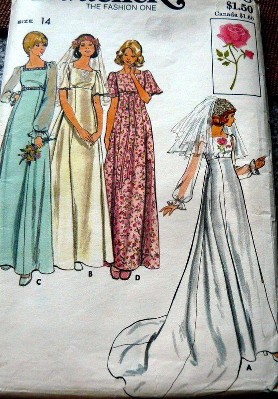 534 best Wedding gown patterns/butterick/simplicity/vogue, ect ...