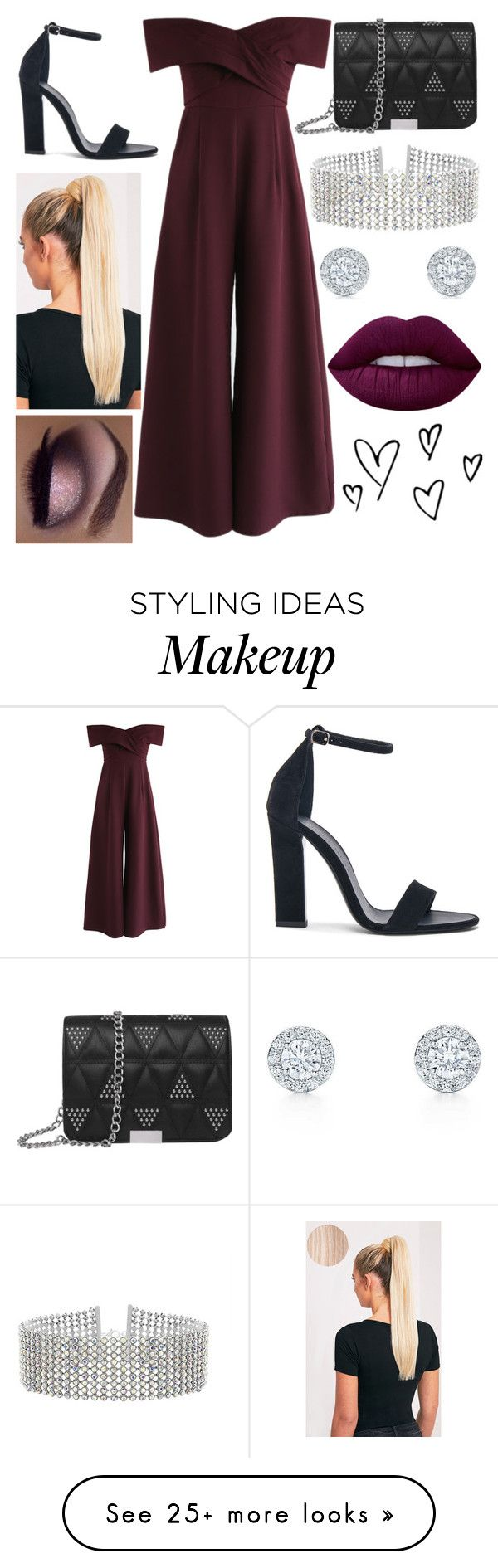 """burgundy beautiful"" by abald on Polyvore featuring Chicwish, Victoria Beckham, Steve Madden, Lime Crime and Fleur of England"