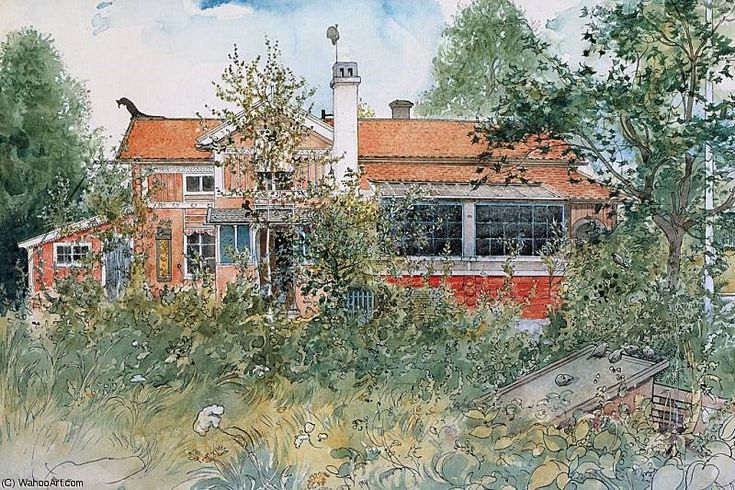 The cottage, 1895 by Carl Larsson (1853-1919, Sweden)