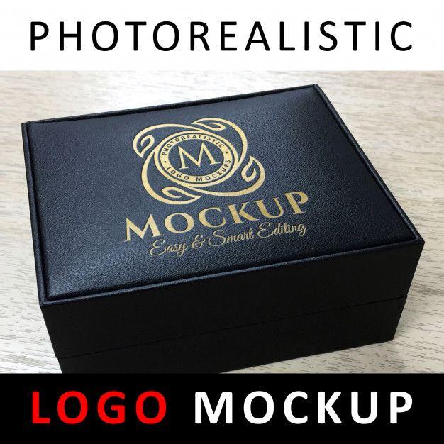 Download Logo Mockup Debossed Golden Logo On Black Jewelry Leather Box Logo Mockup Golden Logo Black Jewelry