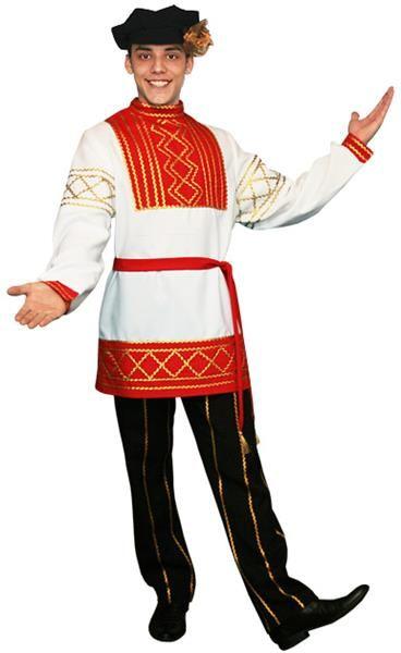 Руский народный мужской костюм картинка