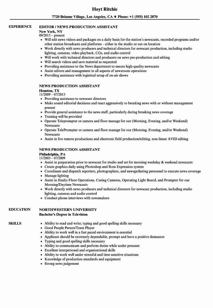 32++ Production supervisor resume format Format