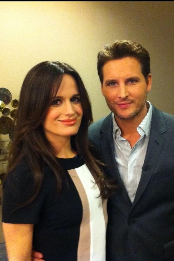 Elizabeth & Peter getting ready to go on the Ellen Show today. 11/5/12