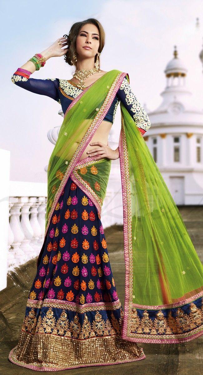 Radiant half Saree. This seasons fashion trend. #fashion