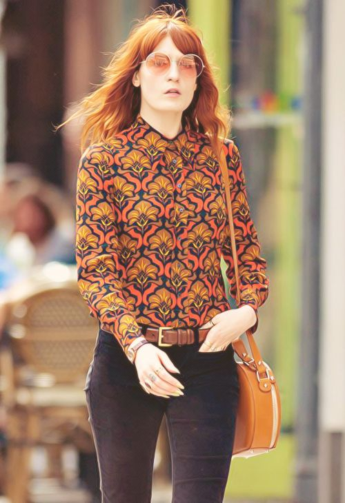 """The music is so euphoric, as a way of battling the words. It's like an exorcism, beating it out with drums, shake this demon out, it's so visceral because the melancholy has to be drummed out. I can't let it sit inside me."" -Florence Welch  LOOK AT THAT TOP! Amazing!"