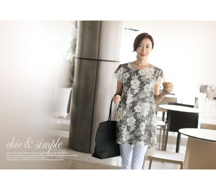 Republic of Korea reigning Women's Clothing Store [CANMART] Atkins lace blouse / Size : FREE / Price : 22.69 USD Feminine flower printing with lace sleeve A-line body-cover lightly GOOD! #lace #blouse #feminine #flower #koreafashion #womanfashion #dailylook #missy #OOTD #CANMART
