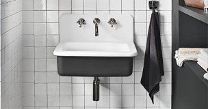 Energy 7710 Industrial Loft-Style Sink We love those old bucket sinks for their big basins and integrated backsplashes. This version, made of nonporous cast acrylic, is a cinch to maintain and much lighter than its cast-iron cousins.  From $140; DuPont Corian