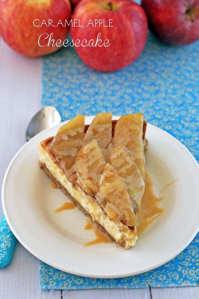 Caramel Apple Cheesecake #desserts