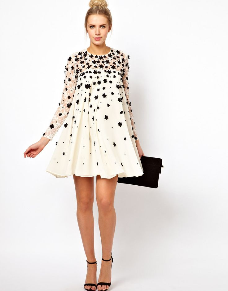 ASOS Maternity Swing Dress With Floral Applique- need this!!!!!
