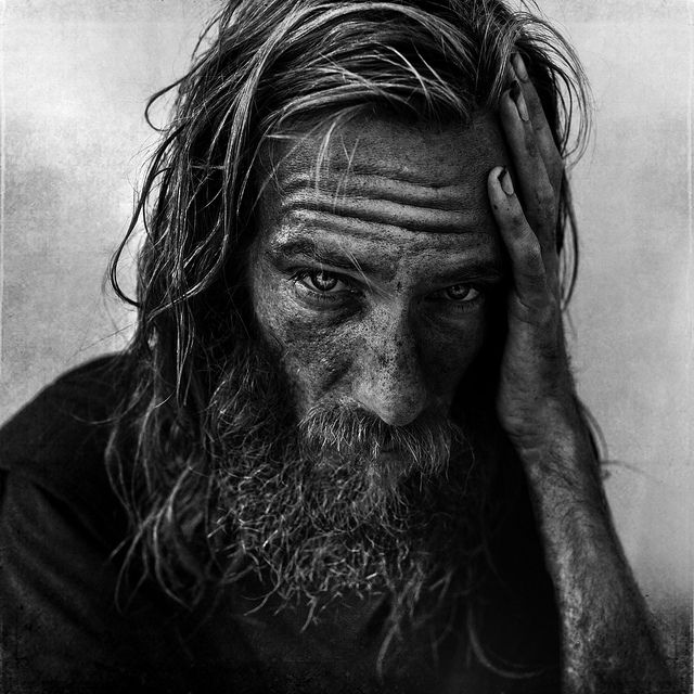 Andy, from Brooklyn, NY, homeless in Miami by @Lee_Jeffries via Flickr