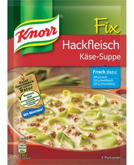 KNORR Fix für Hackfleisch Käse-Suppe mit Lauch
