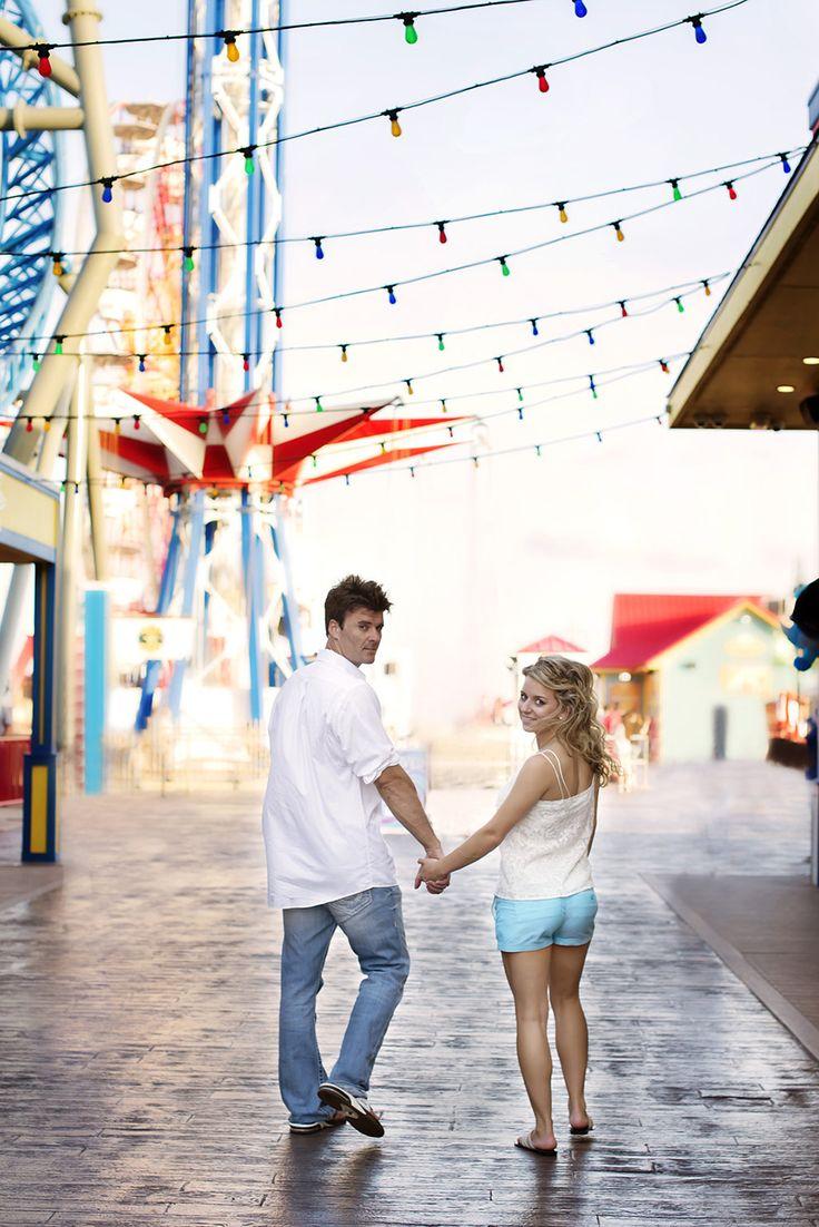 Pleasure Pier Engagement Shoot in Galveston, Texas | Leanne Hope Photography | Reverie Gallery Wedding Blog