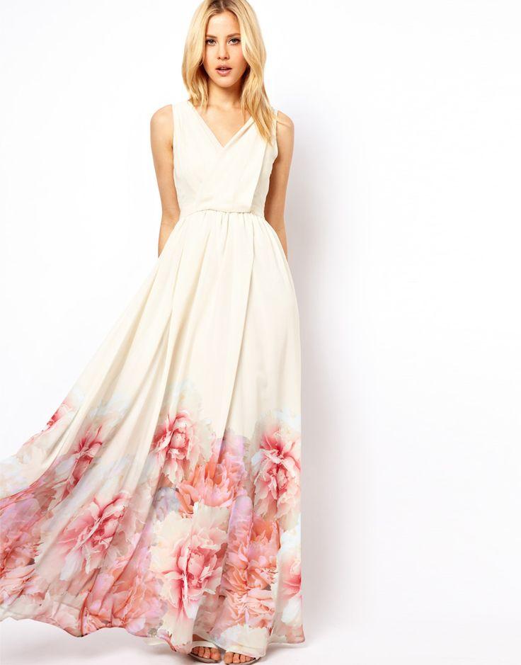 Mango Maxi Dress with floral hem, Summer 2013