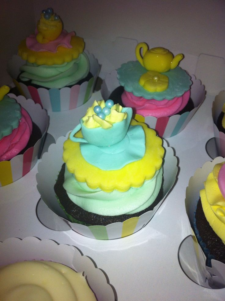 Tea cupcake all edible