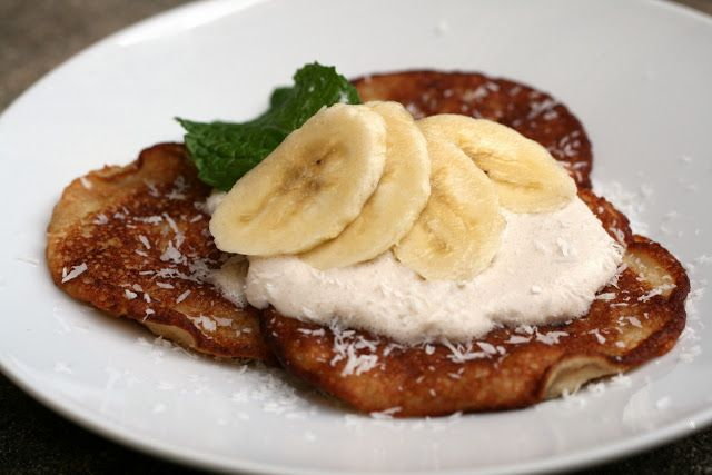Paleo Coconut Banana Pancakes  @Melissa Herald.