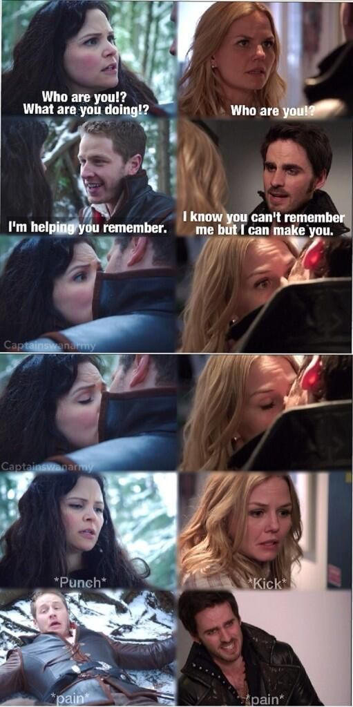 If you look Emma excepts what Hook's doing and than kicks him HARD