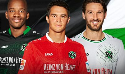 Hannover 96 Jako 2015/16 Home, Away and Third Kits