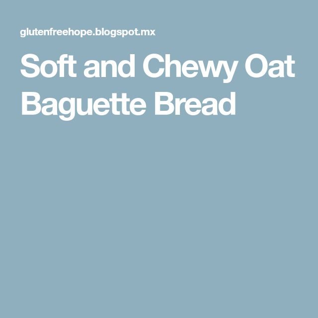 Soft and Chewy Oat Baguette Bread