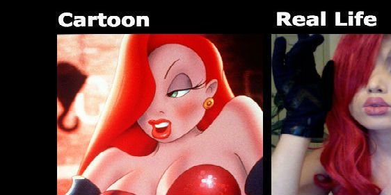 9 Cartoon Characters And Their Real Life : Hot cartoon characters vs real life interesting