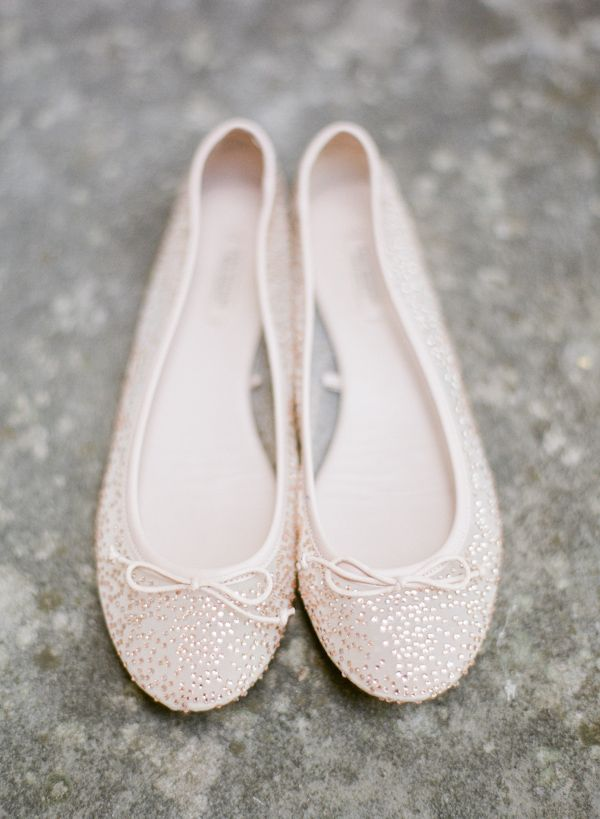 Zara ballet flats perfect for the bride, photo by Taylor Lord Photography | via junebugweddings.com