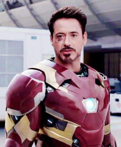 "Tony Stark- ""Civil War"" Lookin sharp despite the black eye XD"