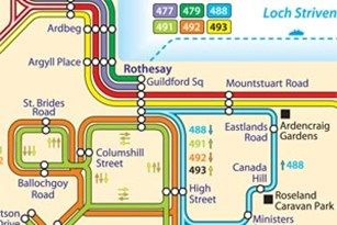 Bute bus Network Map