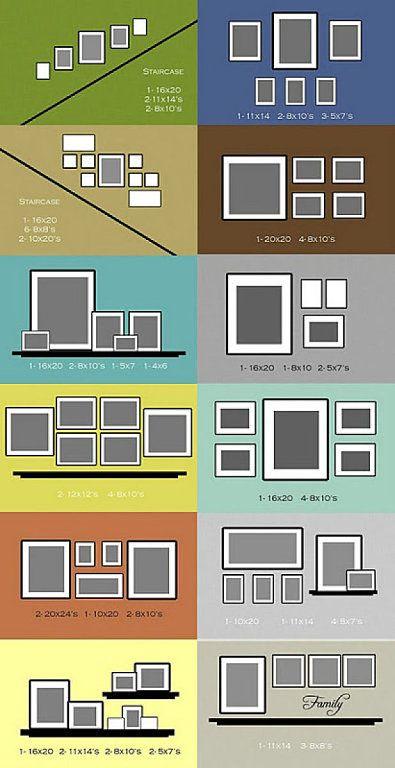 2 GUIAS PARA MONTAROS COMPOSICIONES DE PARED | Decorar tu casa es facilisimo.com