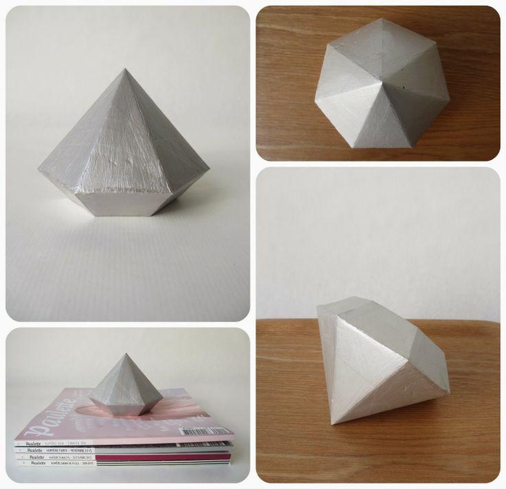 DIY : un presse-papier en forme de diamant