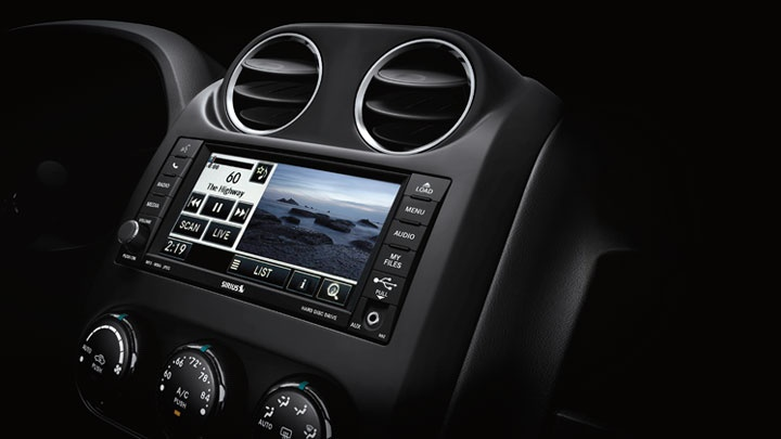 Jeep® Patriot Limited's available Uconnect® 430 CD/DVD/MP3 System comes with Uconnect hands-free communication, SiriusXM Satellite Radio