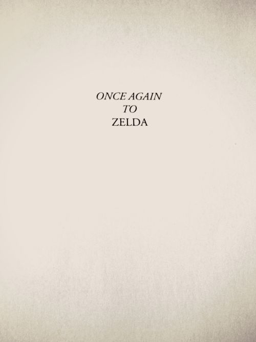 Once Again to Zelda - F. Scott Fitzgerald's dedication in The Great Gatsby
