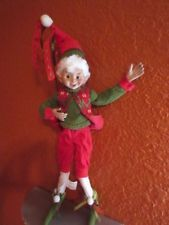 """New 19"""" Red *Green Christmas elf doll collectible quality Holiday Decor #2"""